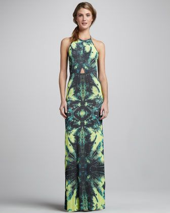 Isla Palm-Print Maxi Dress by Young Fabulous and Broke at Neiman Marcus.