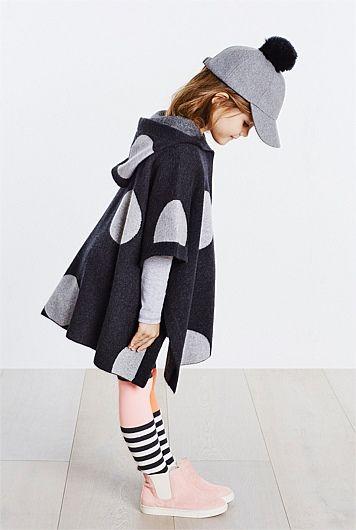 Spot Knit Cape | Kids fashion | Kids fashion outfits | Kids fashion girls | Kids outfits | Cute kids outfits | Stylish kids outfits |