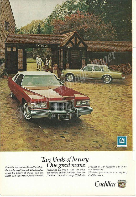1975 Cadillac - Vintage Ad - Seville - Coupe de Ville - Sedan - Car