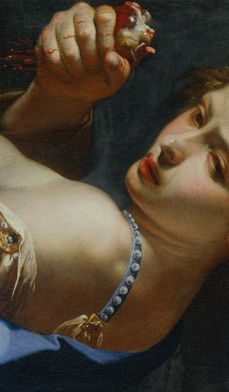 Bernardo Mei | Ghismonda with the Heart of Guiscardo (detail) | 1650s