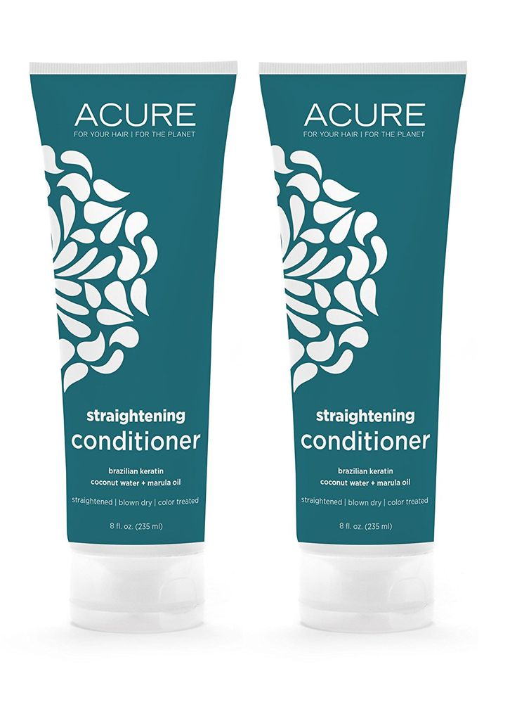 Acure Organics Coconut Straightening Brazilian Keratin Coconut Water   Marula Oil Natural Conditioner, 8 fl. oz. (Pack of 2) >>> Find out more about the great product at the image link.