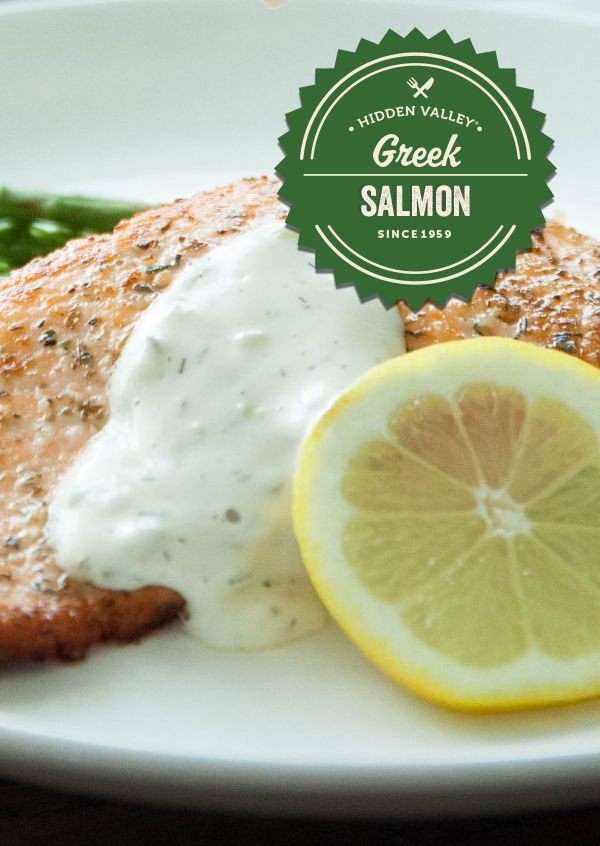 The perfect salmon just met it's perfect counterpart: Greek Yogurt Ranch. Try it for yourself, here: http://hiddnval.ly/YqZ5VP