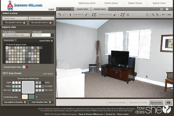 Sherwin williams room makeover part 1 plus a 100 for Sherwin williams virtual painter