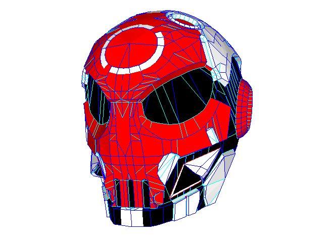 Bone Head Free Helmet Papercraft Download - http://www.papercraftsquare.com/bone-head-free-helmet-papercraft-download.html