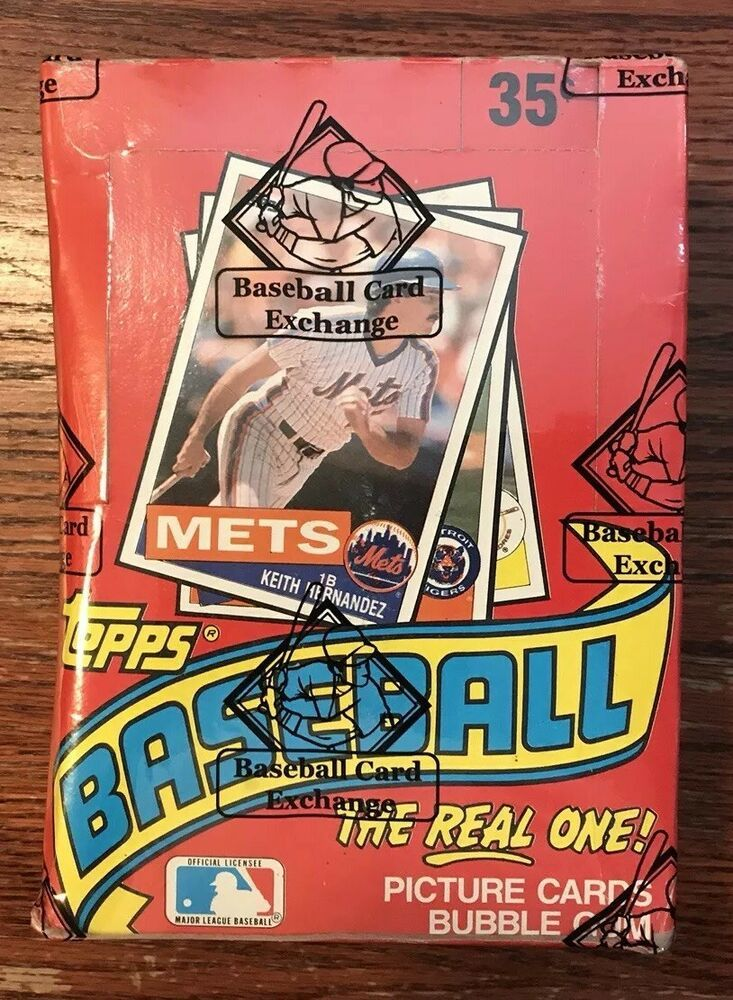 1985 Topps Baseball Unopened Wax Box Bbce Authenticated Sealed