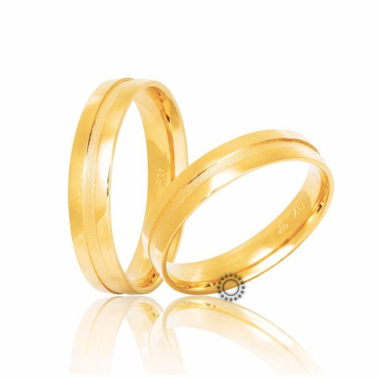 Βέρες γάμου Στεργιάδης S-21-Y   Μοντέρνες ανατομικές χρυσές βέρες με ένα διακριτικό ματ λούκι στο κέντρο τους   ΤΣΑΛΔΑΡΗΣ Χαλάνδρι #βέρες #βερες #γάμου