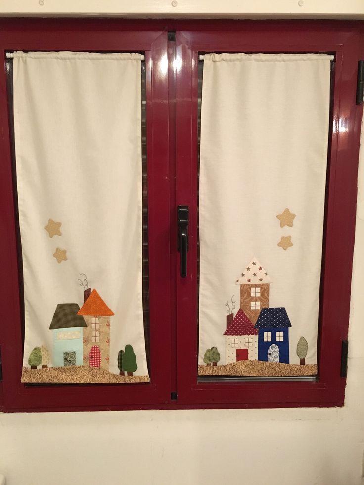 M s de 25 ideas fant sticas sobre cortinas de patchwork en - Apliques para cortinas ...