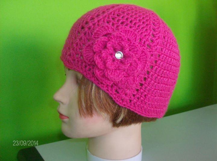 βελονακι σκουφακι + λουλουδι crochet hat + flower