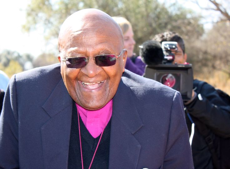 Archbishop Emeritus Desmond Tutu during his visit to Maropeng and the Sterkfontein Caves, in the Cradle of Humankind, on july 31 2013.