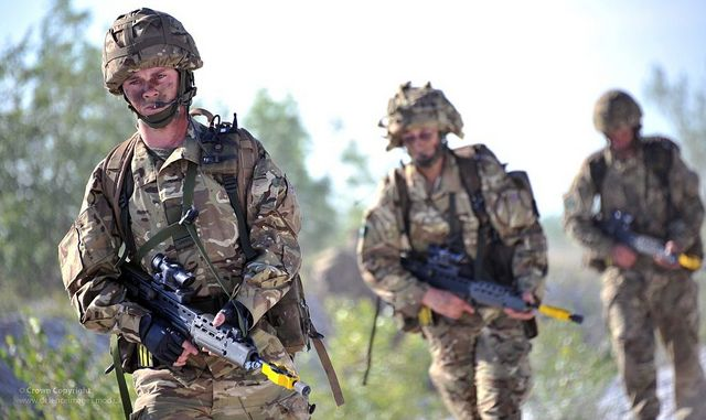 Territorial Army reservist soldiers with the 4th Battalion The Yorkshire Regiment (4 YORKS) are pictured on a training exercise in Italy.