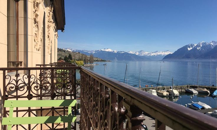 Hotel le Rivage in Lutry, Switzerland #hotel #lakeside #view #panorama