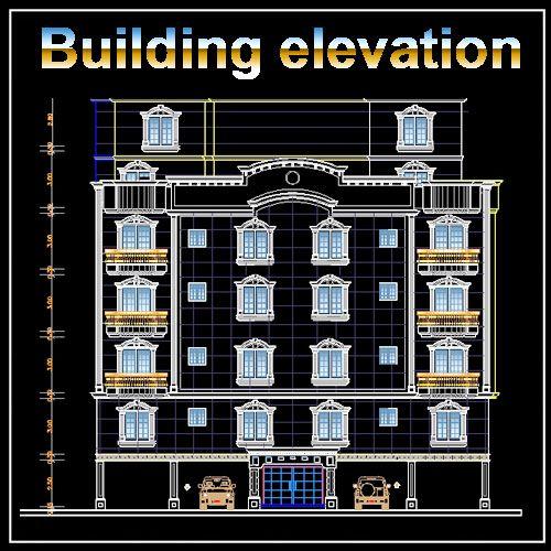 Building Elevations Cad : Best building elevation designs facade
