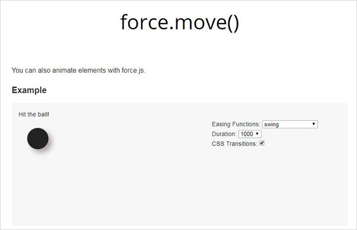 Scroll and Animate Your Page Easily With Force.js  Design hongkiat.com