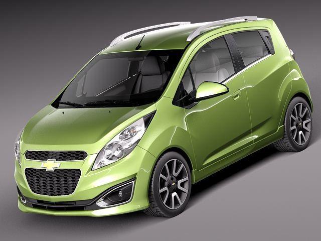 3D Chevrolet Spark Car 2013 Model - 3D Model