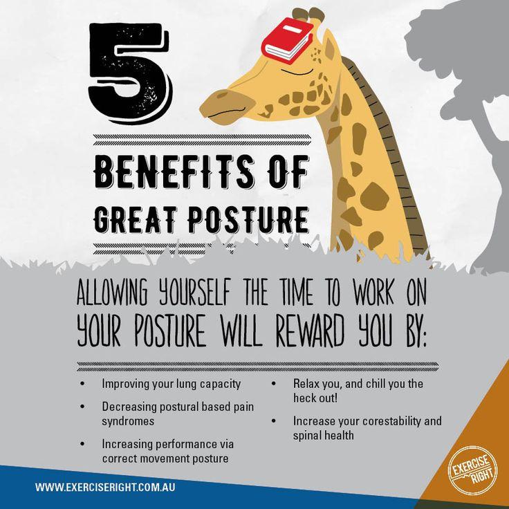 5 #benefits of great #posture!  #toptips #exercisetips #yoga #breathing #pilates #exercisescience #exercisephysiology