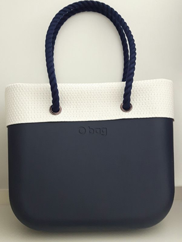 O`Bag hessian trim/ omslag wit