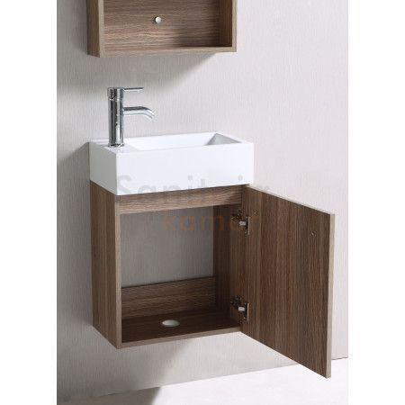 SaniGoods Pisa badkamermeubel 45cm bruin - sk1004   Sanitairkamer.nl