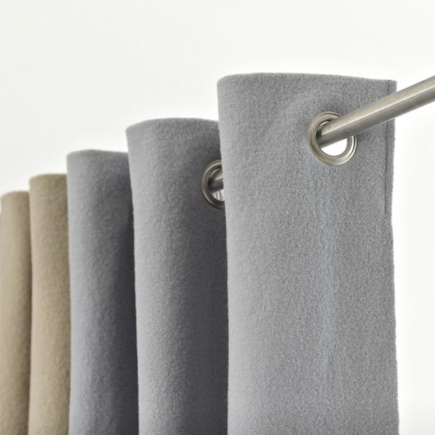 RELAX Curtain | Sound Absorbing Acoustical Curtain | 2013 | Nina Mair | Architecture | Design | Austria | Acoustically Effective Furniture | High Versality | Compact Knitted Fabric: through Mechanical & Thermal Influences | Ultra-Fine Wool | Elegant Leather Ribbon Seam | 5 Colour Nuances | 36 Colours | Visual Cover | Sun Screen | Flexible Zoning Element | Acoustic Control | Locally Produced Materials | Dimensions: up to 4m |