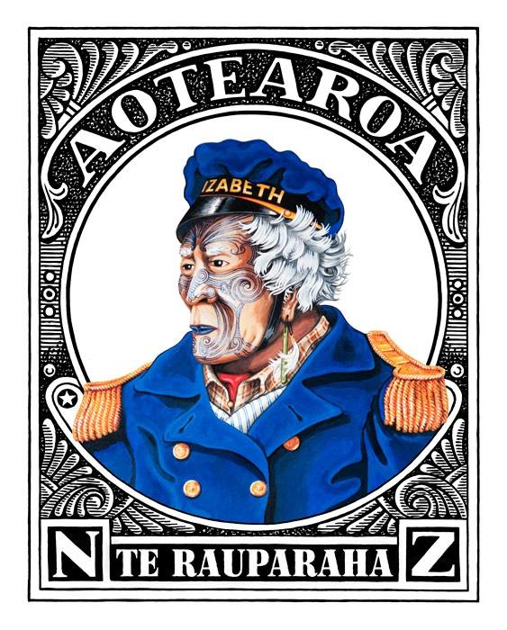 Aotearoaland, Te Rauparaha, Lester Hall, Artist, Bay of Islands, Kiwiana Series