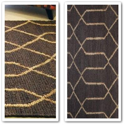HF Quantos Rug  A classic herringbone knotted natural fibre rug, hand woven in lustrous jute, ideal for high traffic areas.