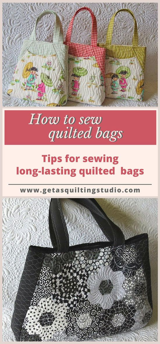 Learn+to+sew+long-lasting+quilted+bags+with+professional+look.+via+@getagrama
