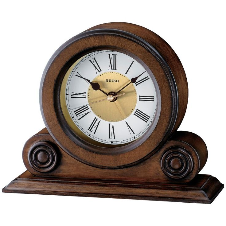 Seiko Brown Alder Desktop Clock - QXE026BLH