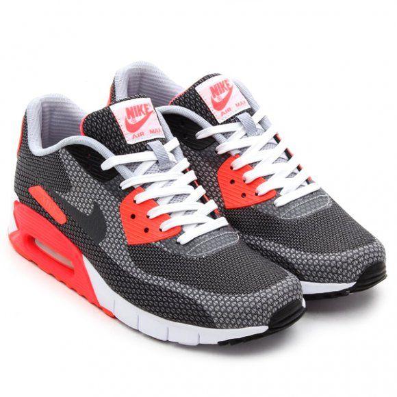 Nike Air Max 90 Jacquard - White/Cool Grey-Black-Infrared Via: Tenisufki.eu