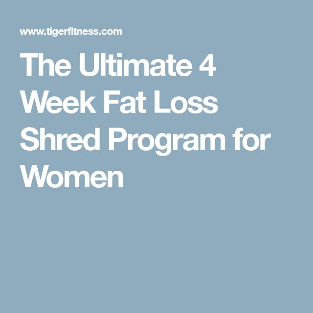 The Ultimate 4 Week Fat Loss Shred Program for Women