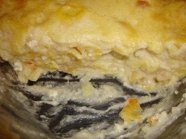 Budinca de tortellini cu besamel - Bucataria cu noroc