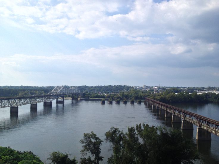 Florence, Alabama seen from the South side of the Tennessee River (Sheffield, Alabama)