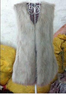 HEE GRAND 2016 Autumn Winter Faux Fur Vest Colete De Pele Falso Jacket Casacos Femininos Womens Coat Plus Size WWC047