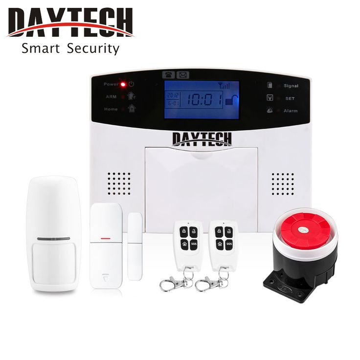 DAYTECH Wireless GSM & SMS Burglar Intruder Alarm Security System Kit  APP control with Motion Detector Door Intruder Sensor. Yesterday's price: US $136.90 (112.71 EUR). Today's price: US $50.65 (41.79 EUR). Discount: 63%.