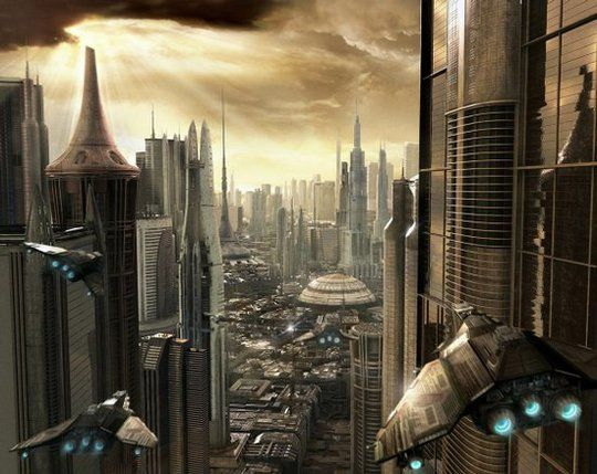 futuristic cities concepts | Futuristic City Scifi