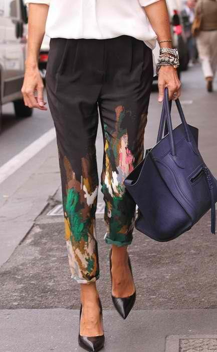 Si piensas usar estampados en leggings mejor usalos en pantalones mas sueltos