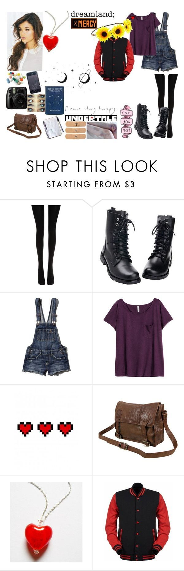 """Undertale OC"" by dreaming-of-nightmares ❤ liked on Polyvore featuring Wolford, Abercrombie & Fitch, H&M, Retrò, VIPARO and Forever 21"