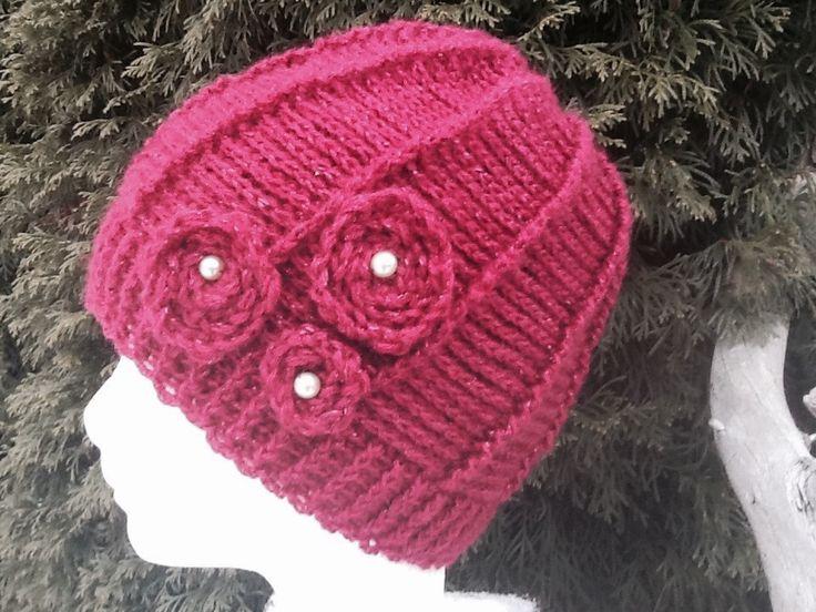 Hačkovaná damská zimná čiapka