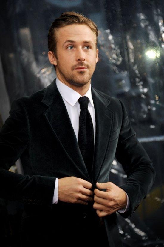 Ryan Gosling in black velvet