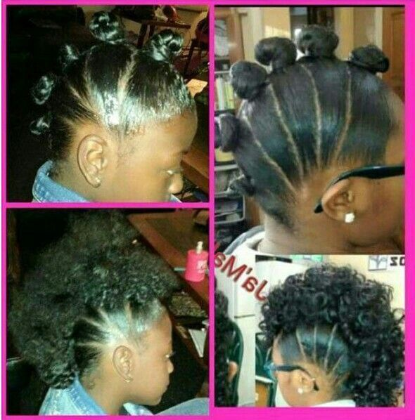 Cute Faux Mohawk For Little Girls Naturalhairstylesforlittlegirls Haar