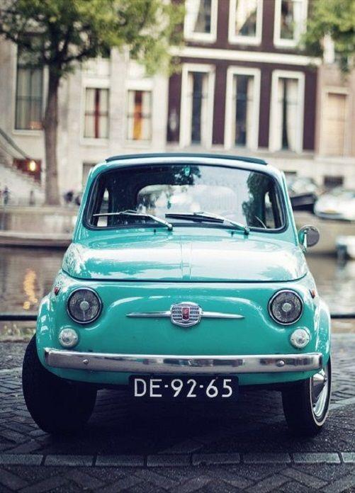 Turquoise/ Fiat 500