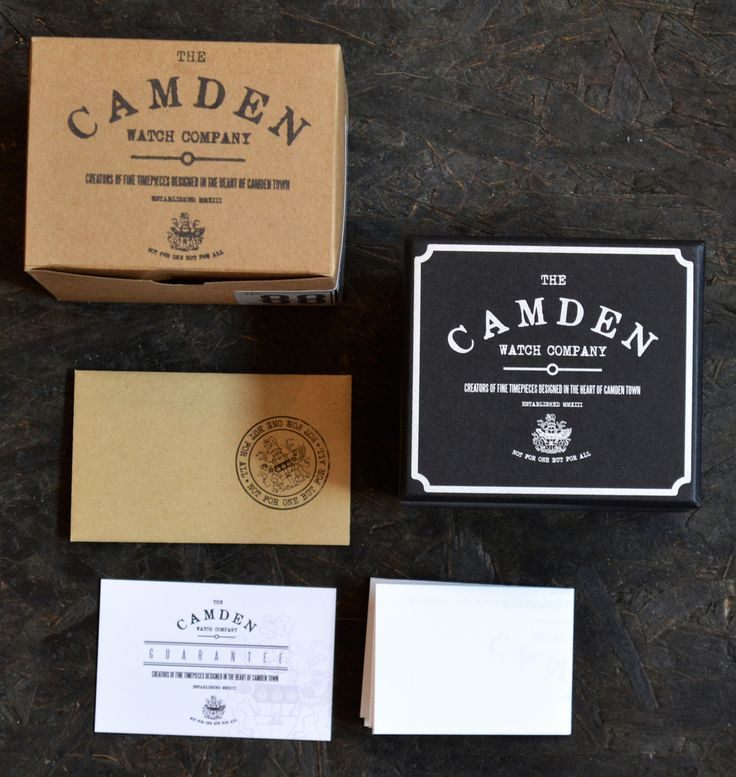 AMS Design Studio, a London-based watch and product design studio created vintage packaging re-imagined for The Camden Watch Company.