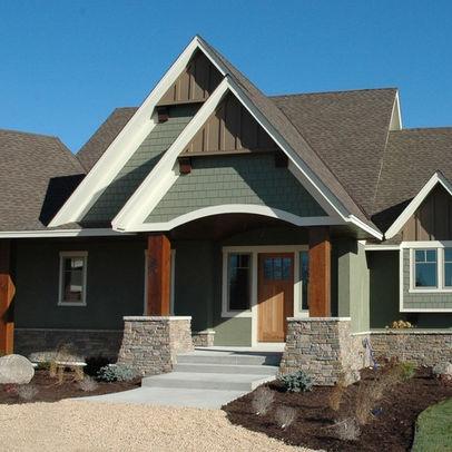 Best Exterior Photos Sage Green Siding Design Outdoor Space 400 x 300