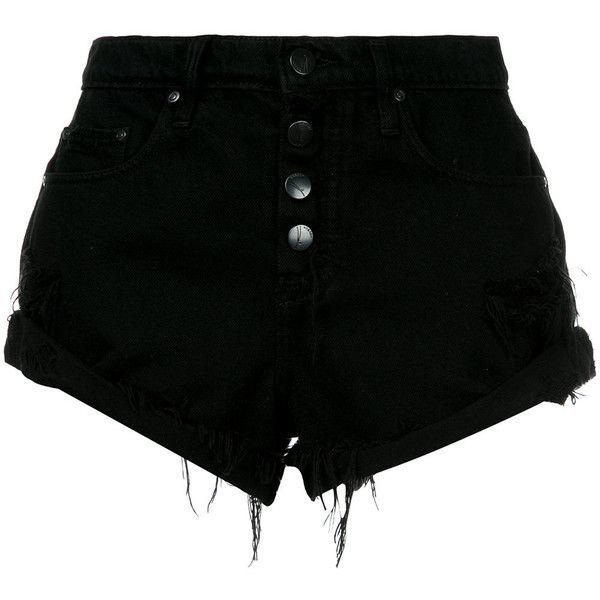 Nobody Denim Boho Short Exposed Destiny ($150) ❤ liked on Polyvore featuring shorts, bottoms, black, relaxed fit shorts, relaxed shorts, nobody denim, bohemian shorts and boho shorts