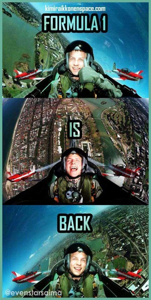 F1 is back :) Kimi Räikkönen