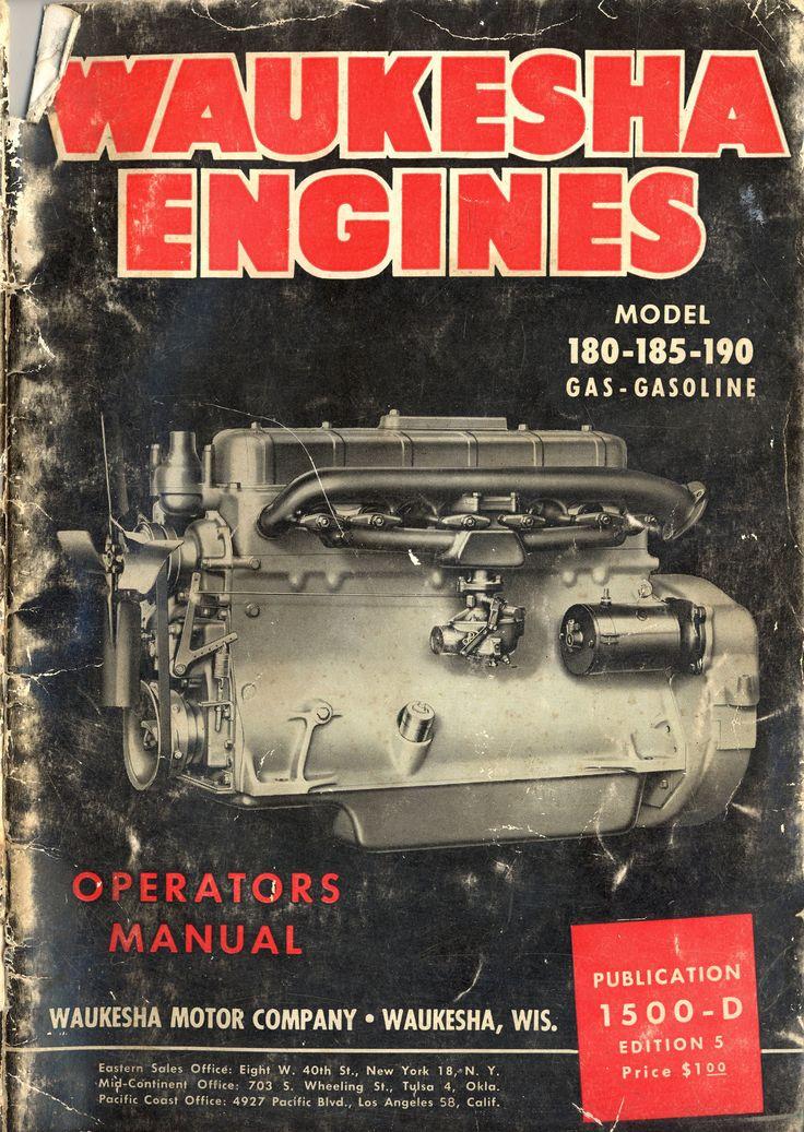 old Waukesha | 1949 Waukesha Engines - Operators Manual/Waukesha0001.jpg