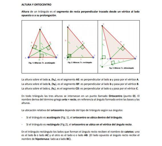 Alturas De Un Triángulo Chart Diagram