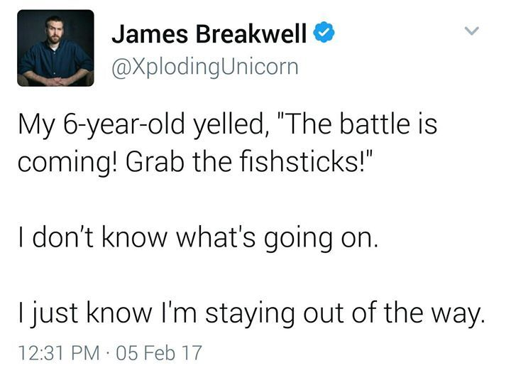 Grab the fishsticks = shit's going down.