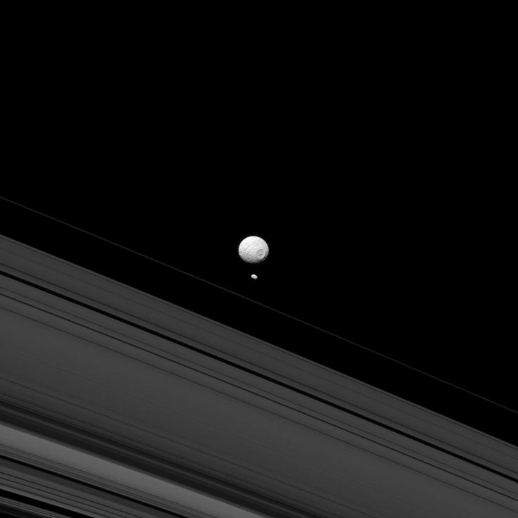a closer look at mimas The story changed when tajeddine and his team took a closer look at photographs taken by nasa's cassini spacecraft, which has been orbiting the ringed planet since 2005.
