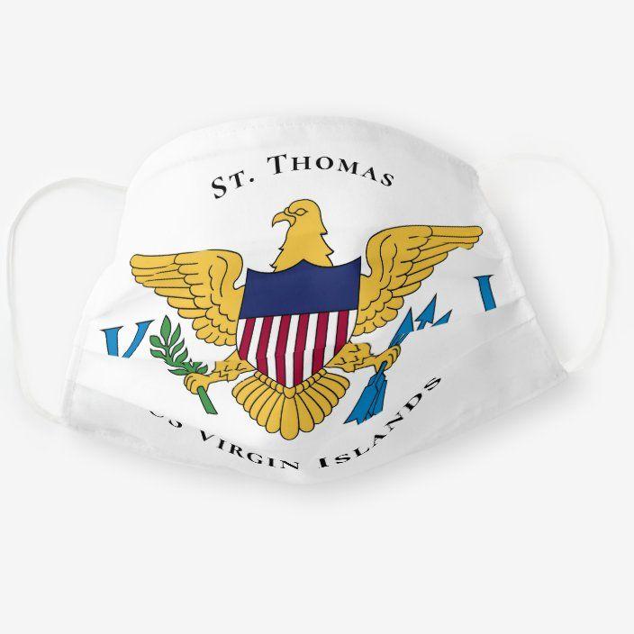 Us Virgin Islands Flag St Thomas Usvi Cloth Face Mask Zazzle Com Virgin Islands Flag Us Virgin Islands Virgin Islands
