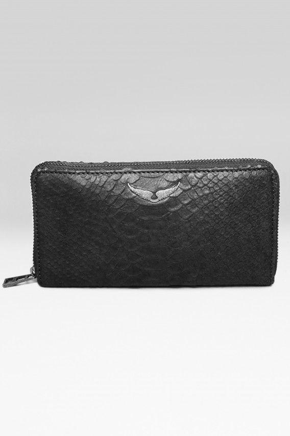 portefeuille pour femme compagnon cobra noir Zadig & Voltaire