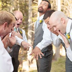 A dreamy Rocky Mountain wedding with a comical groom from Jason + Gina Wedding Photographers.